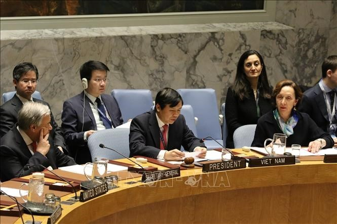 Vietnam stellt die aktive Rolle im UN-Sicherheitsrat fest - ảnh 1