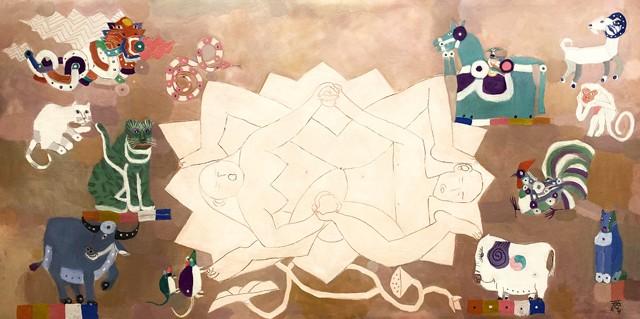 Kunstausstellung von 19 zeitgenössischen führenden Malern Vietnams - ảnh 1