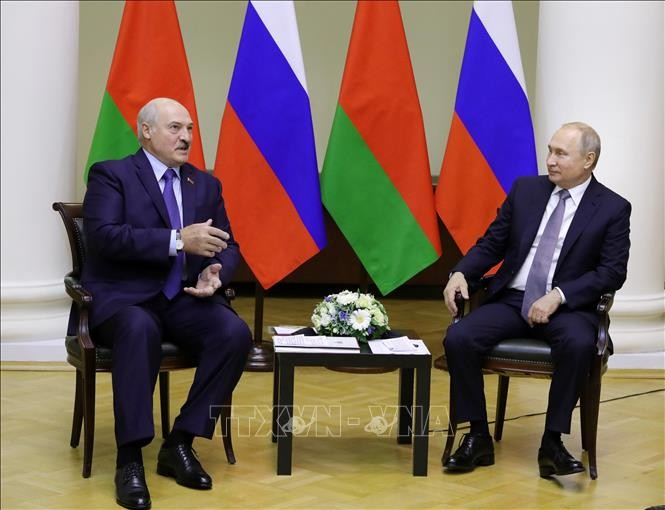 Russland sagt Weißrussland den Schutz der Sicherheit zu  - ảnh 1
