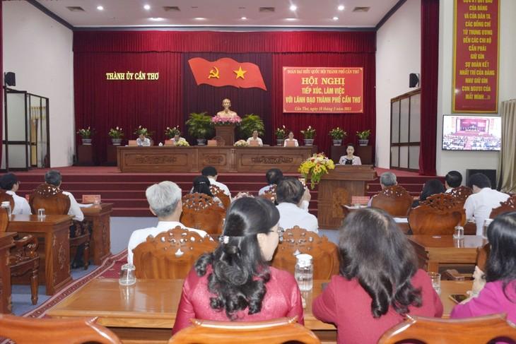 Parlamentspräsidentin: Aufbau von Can Tho zum Zentralstadt im Mekong-Delta - ảnh 1