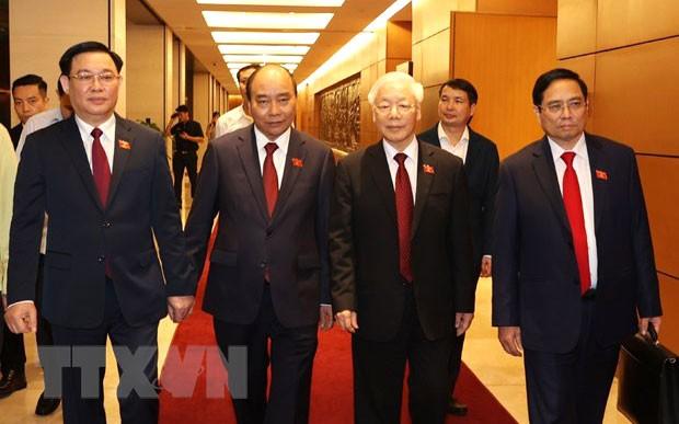 Glückwunschtelegramme an vietnamesische Spitzenpolitiker - ảnh 1