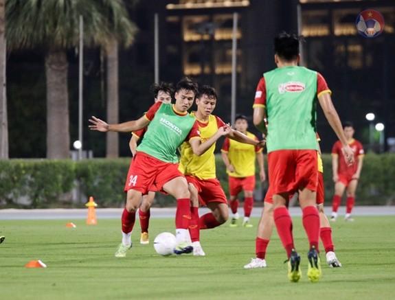 Die vietnamesische Fußballmannschaft kehrt wieder zum Training vor dem Spiel gegen Indonesien zurück - ảnh 1