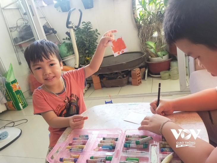 Liebesbotschaften von Kindern an die Front gegen die Epidemie - ảnh 1