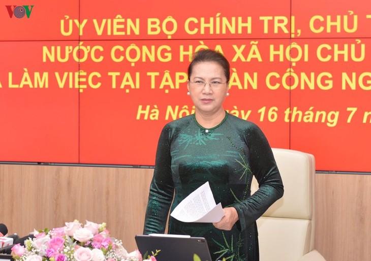 Nguyên Thi Kim Ngân salue les réalisations de Viettel - ảnh 1