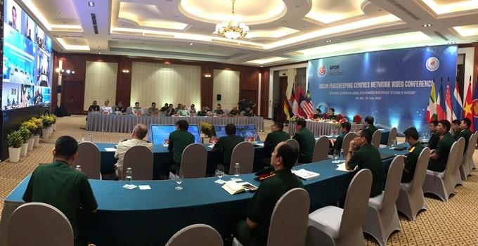 Visioconférence du Réseau des centres de maintien de la paix de l'ASEAN  - ảnh 1
