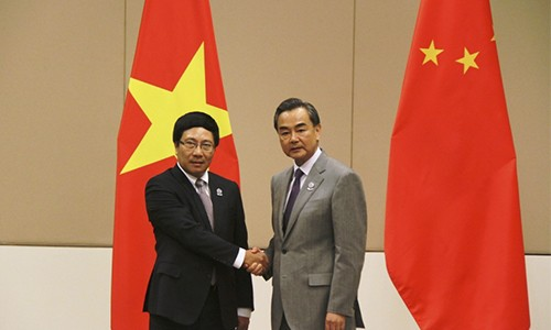 Phó Thủ tướng, Bộ trưởng Ngoại giao Phạm Bình Minh gặp Bộ trưởng Ngoại giao Trung Quốc Vương Nghị - ảnh 1