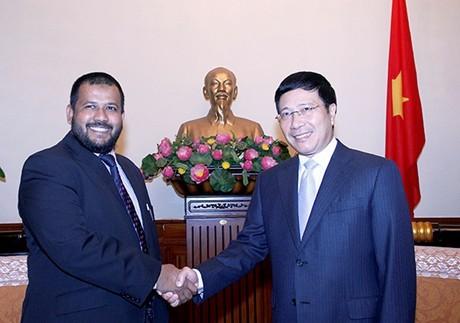 Phó Thủ tướng, Bộ trưởng ngoại giao Phạm Bình Minh tiếp Bộ trưởng Công thương Sri Lanka - ảnh 1