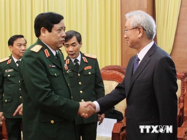 Đại tướng Phùng Quang Thanh tiếp Đại sứ Hàn Quốc - ảnh 1