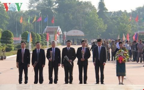 Lào: Mít tinh kỷ niệm 95 năm ngày sinh Chủ tịch Cayxone Phomvihan - ảnh 1