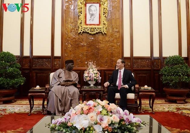 Президент СРВ Чан Дай Куанг принял послов Нигерии, Греции и США - ảnh 1