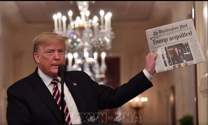 Трамп выступил с заявлением после провала импичмента - ảnh 1