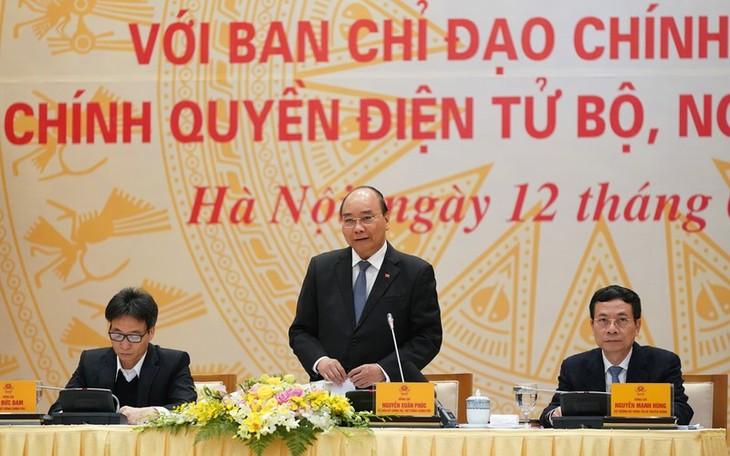 Премьер-министр СРВ Нгуен Суан Фук председательствовал на заседании Государственного комитета по строительству электронного правительства - ảnh 1