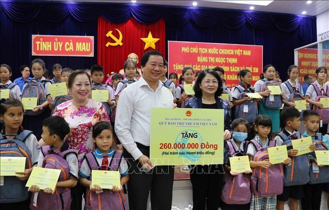 Вице-президент Данг Тхи Нгок Тхинь посетила провинцию Камау с рабочим визитом - ảnh 1