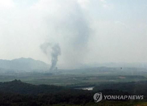 КНДР взорвала здание офиса связи с Южной Кореей - ảnh 1