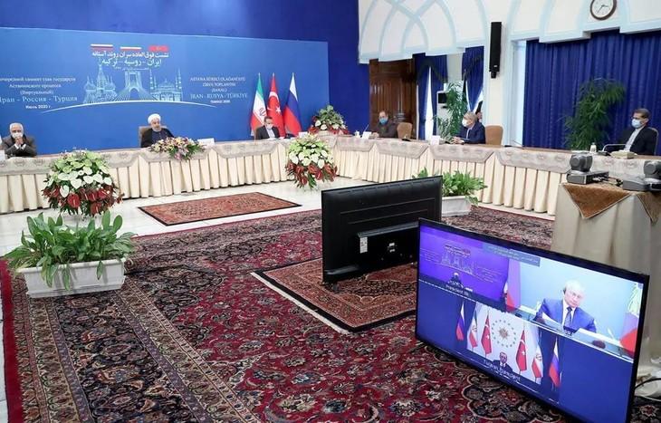 Президенты России, Ирана и Турции сделали совместное заявление по Сирии - ảnh 1