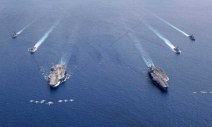 США провели военные учения в Восточном море - ảnh 1