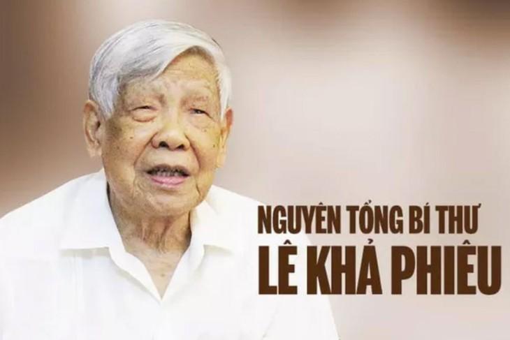 Телеграмма и письмо соболезнования в связи с кончиной товарища Ле Кха Фиеу - ảnh 1