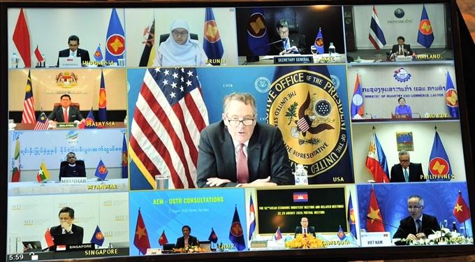 АСЕАН 2020: АСЕАН и США продолжают реализовать инициативу о торговом сотрудничестве в расширенном формате - ảnh 1