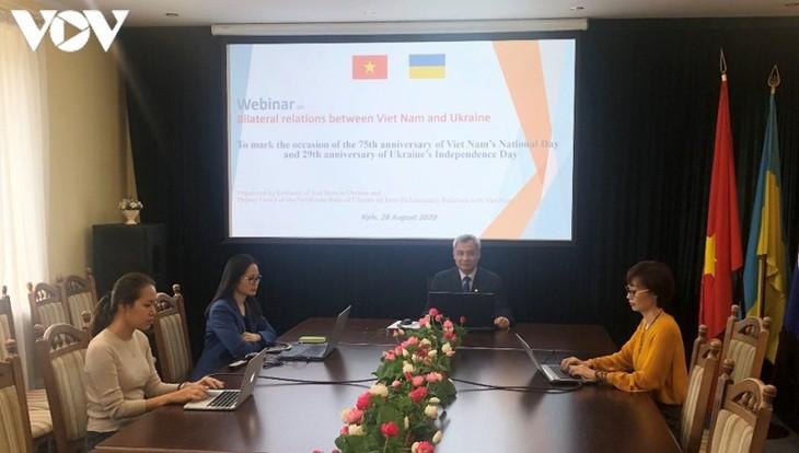 Онлай-беседа «Украинско-вьетнамские отношения: Реальное положение и перспектива» - ảnh 1