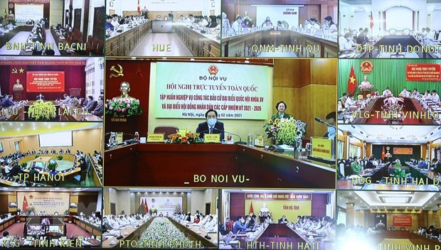 Всевьетнамская конференция по подготовке к выборам в НС СРВ 15-го созыва и Народные советы разных уровней - ảnh 1