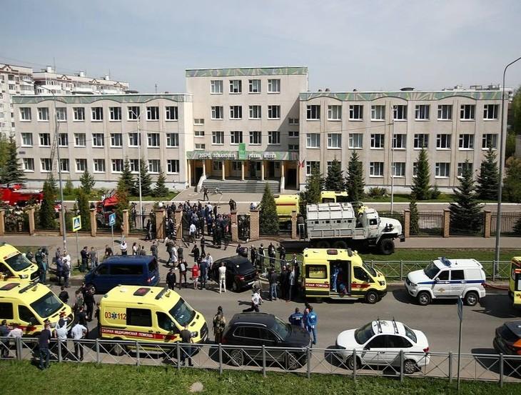 Число погибших при стрельбе в школе Казани увеличилось до 9 человек  - ảnh 1
