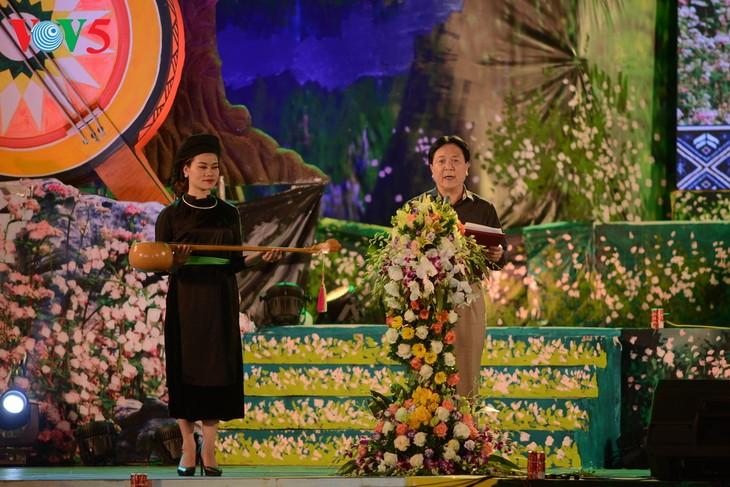Pembukaan Festival kesenian nasional nyanyian lagu rakyat Then dan siter Tinh dan pengumuman Perancangan zona pariwisata nasional Geopark daerah tinggi karst Dong Van, Provinsi Ha Giang - ảnh 1