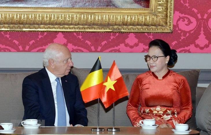 Ketua MN Vietnam, Nguyen Thi Kim Ngan melakukan pertemuan dengan Ketua Majelis Tinggi Kerajaan Belgia, Jacques Brotchi - ảnh 1