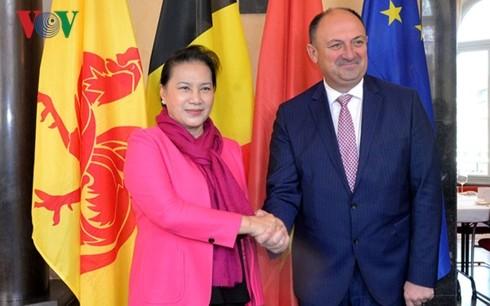 Ketua MN Vietnam, Nguyen Thi Kim Ngan menerima Gubernur Kawasan Wallonie, Belgia - ảnh 1