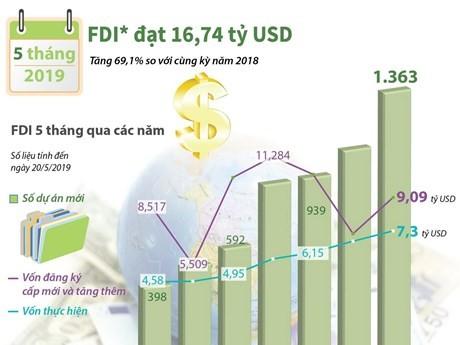 Penyerapan modal investasi asing, titik cerah dari ekonomi selama 6 bulan awal tahun 2019 - ảnh 1