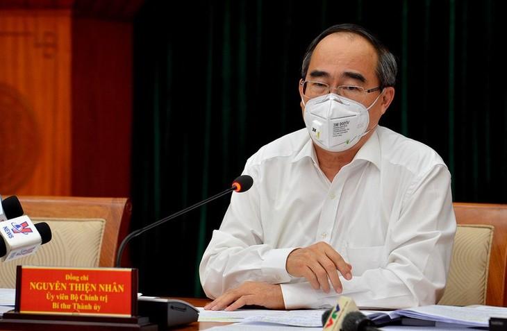 Kota Ho Chi Minh menjamin secara mutlak keselamatan bagi produksi pada latar belakang melawan wabah - ảnh 1
