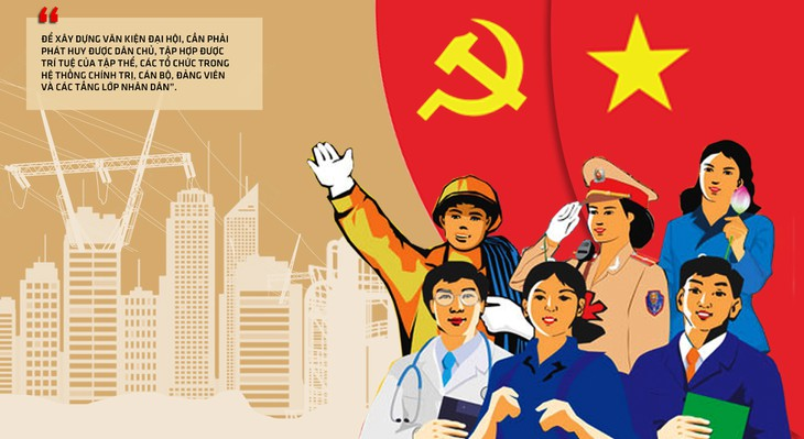 Memperluas demokrasi dan mendengarkan sumbangan pendapat terhadap dokumen Kongres Nasional Partai Komunis Viet Nam - ảnh 1