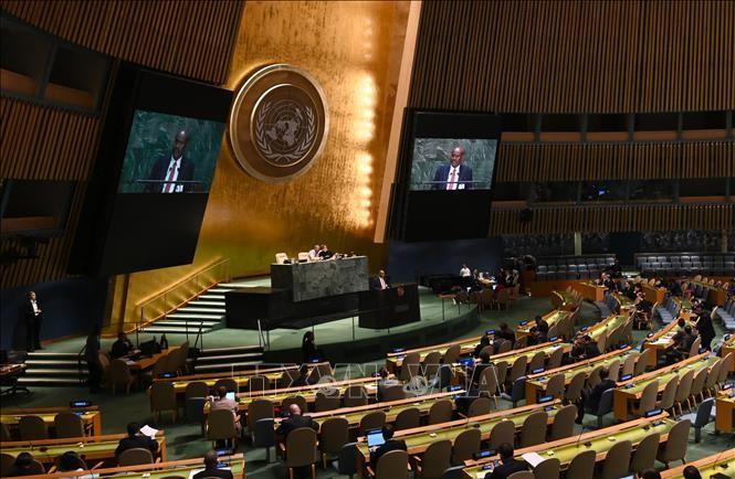 MU PBB mengesahkan resolusi kedua tentang pandemi Covid-19 - ảnh 1
