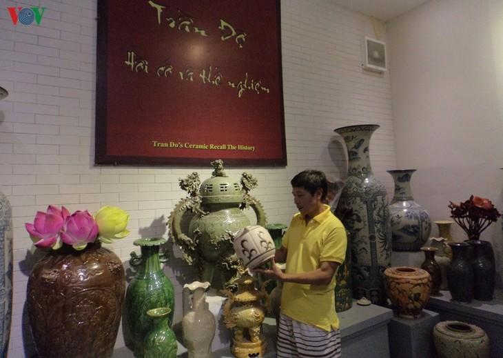 Seniman Rakyat Tran Van Do: Orang yang menjaga  kejiwaan keramik kuno Bat Trang - ảnh 1