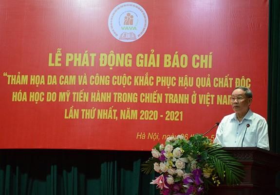 Mencanangkan Penghargaan pers mengarang musibah agen oranye di Vietnam - ảnh 1
