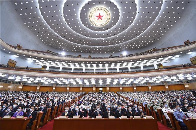 Penutupan Persidangan ke-3 Kongres Rakyat Nasional Tiongkok, angkatan XIII - ảnh 1