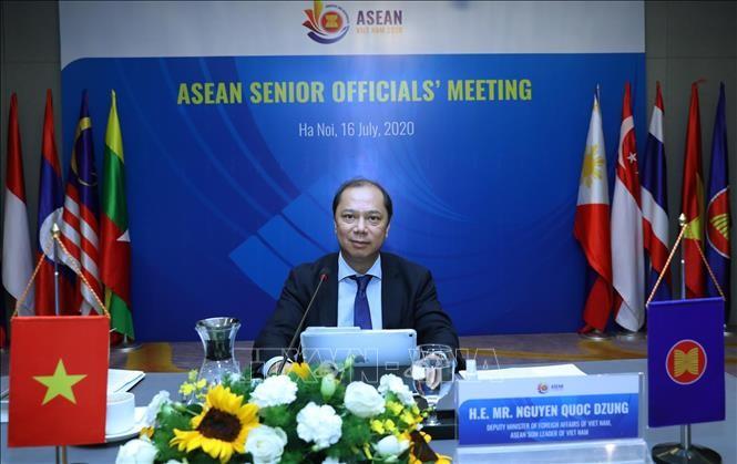 Para pejabat senior ASEAN mengadakan konferensi virtual untuk menyiapkan semua konferensi tingkat menteri - ảnh 1