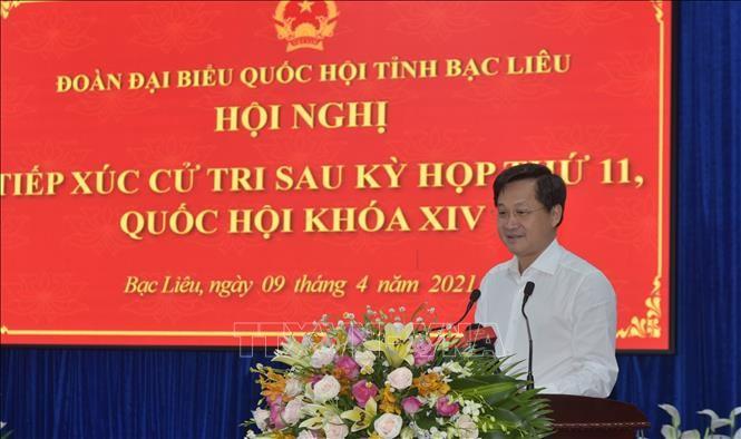 Delegasi Anggota MN Vietnam dari Provinsi Bac Lieu dan Provinsi Bac Ninh Adakan Kontak dengan Pemilih - ảnh 1