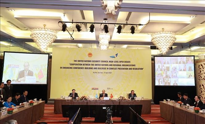 Komunitas Internasional Apresiasi Sidang Aksentuasi Bulan Vietnam Memegang Ketua DK PBB - ảnh 1
