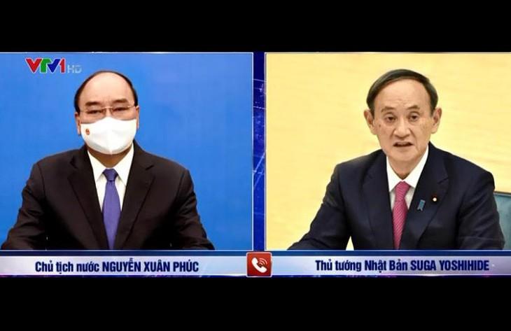 Presiden Nguyen Xuan Phuc: Vietnam Selalu Menganggap Jepang Sebagai Mitra Strategis, Penting, Papan Atas, dan Jangka Panjang - ảnh 1