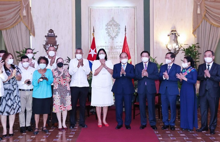 Presiden Nguyen Xuan Phuc: Rakyat Vietnam Selalu Bahu-Membahu Dengan Rakyat Kuba Sesaudara  - ảnh 1