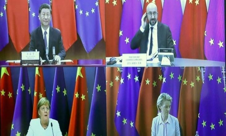 EU pushes China on various issues at virtual summit - ảnh 1