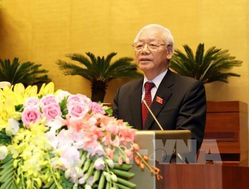 Media internasional mebuat berita secara menonjol Sekjen KS PKV, Nguyen Phu Trong dipilih memangku jabatan  sebagai Presiden Negara - ảnh 1
