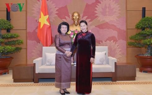 Ketua MN Vietnam, Nguyen Thi Kim Ngan menerima Wakil ke-2 Ketua Parlemen Kamboja - ảnh 1