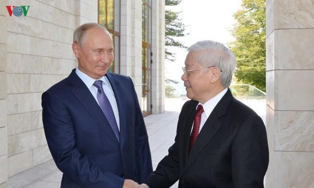 Presiden Rusia, Vladimir Putin Mengucapkan Selamat Tahun Baru kepada Sekjen, Presiden Vietnam, Nguyen Phu Trong - ảnh 1