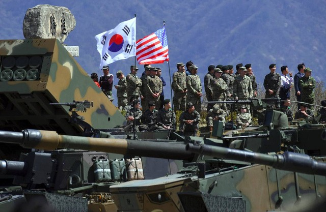 Republik Korea dan AS menghentikan latihan perang gabungan - ảnh 1
