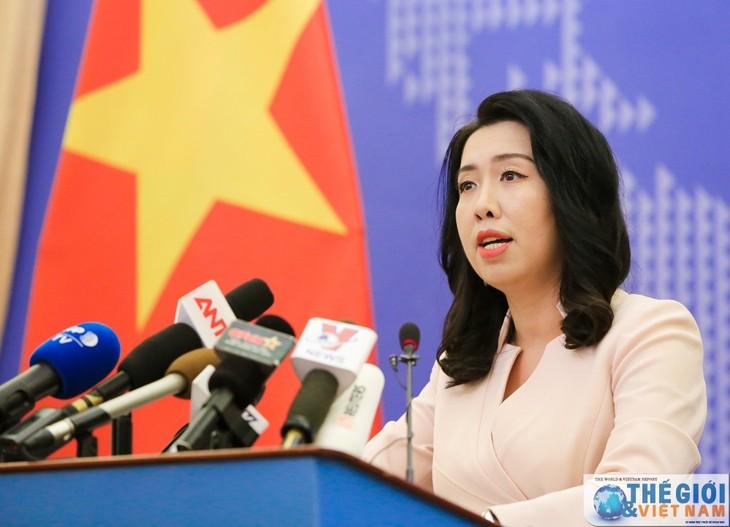 Vietnam memprotes tindakan-tindakan Tiongkok di dua kepulauan Truong Sa (Spratly) dan Hoang Sa (Paracel) - ảnh 1