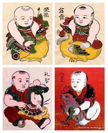 Memperkenalkan sepintas lintas tentang beberapa lukisan tradisional Dong Ho - ảnh 1
