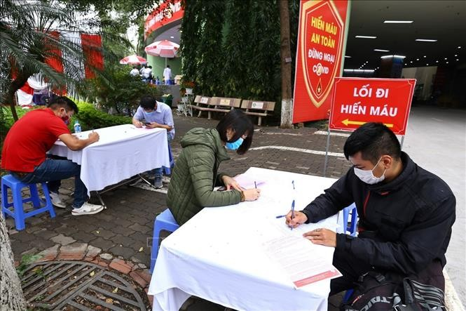Pengurus  Besar Liga Pemuda Komunis Ho Chi Minh mengimbau anggota liga pemuda dan para pemuda supaya aktif menumbangkan darah sukarela - ảnh 1