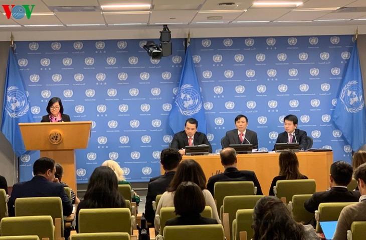 Vietnam menyelesaikan secara lebih dini Laporan bulanan Ketua DK PBB - ảnh 1