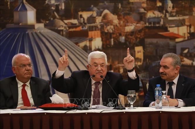 Palestina memperingatkan membatalkan permufakatan-permufakatan dengan Israel dan AS - ảnh 1